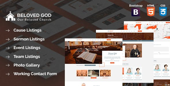 Beloved God Church and Events Html Template