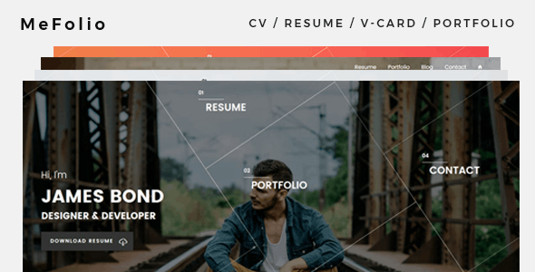 Mefolio Ajax Resume WordPress Theme - Portfolio Creative