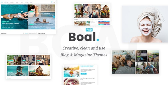 BOAL - Magazine & Personal Blog PSD Template - Miscellaneous PSD Templates