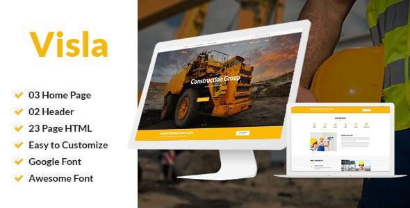 Visla   Multipurpose Construction Template - Corporate Site Templates