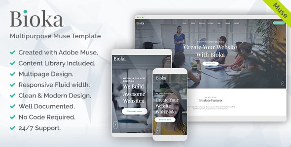 Bioka - Corporate Multipurpose Muse Template - Corporate Muse Templates