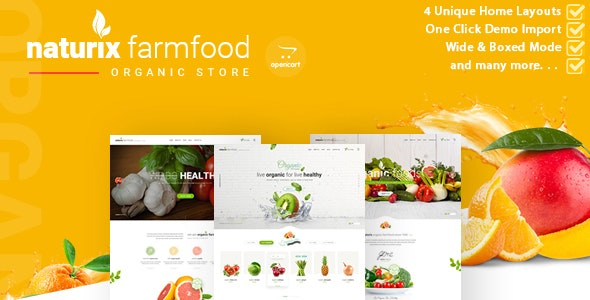 Naturix - Organic Store Opencart Theme - Health & Beauty OpenCart