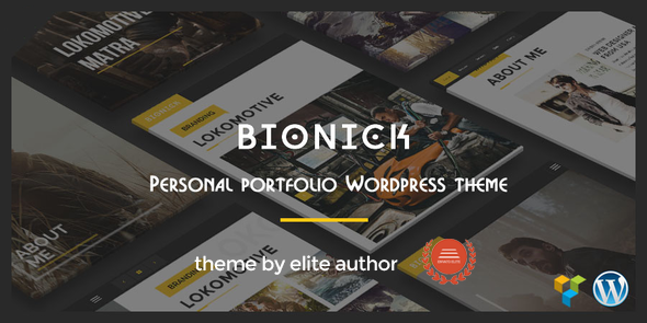 Bionick | Personal Portfolio WordPress Theme - Portfolio Creative