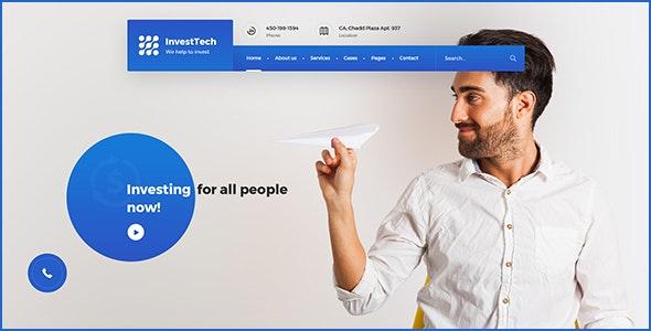 InvestTech - corporate PSD template - Corporate Photoshop