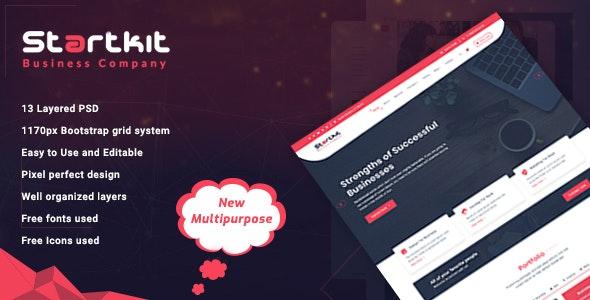 StartKit - Business Multipurpose PSD template - Business Corporate