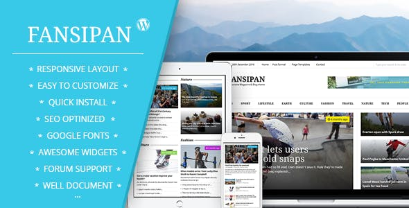 Fansipan Magazine & News Blog theme