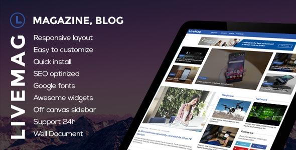 LiveMag - Multipurpose Magazine Theme - Blog / Magazine WordPress