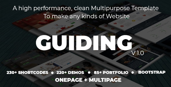 Guiding - Creative, Pro Multipurpose HTML5 Template - Site Templates
