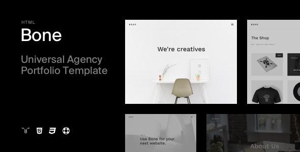 Bone - Responsive Agency Portfolio HTML Template - Portfolio Creative