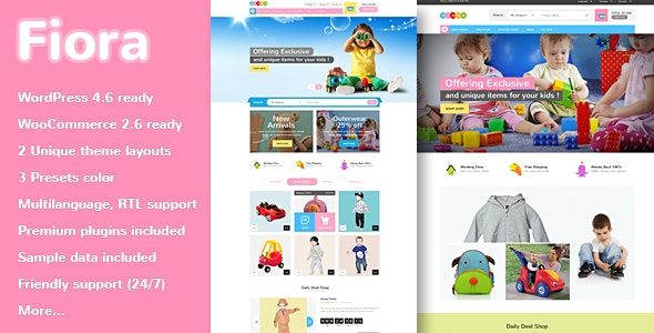VG Fiora - WooCommerce WordPress Theme for Kids Store - WooCommerce eCommerce