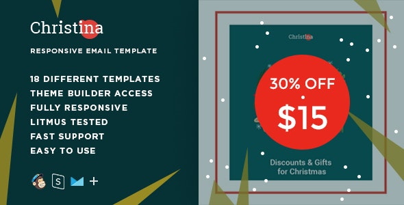 Christina – Responsive HTML Email + StampReady, MailChimp & CampaignMonitor compatible files - Email Templates Marketing