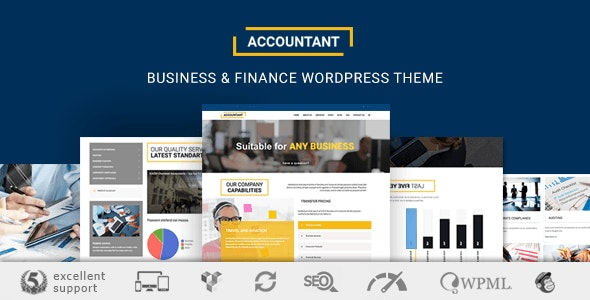 Accountant Accounting Wordpress Theme By Azelab Themeforest