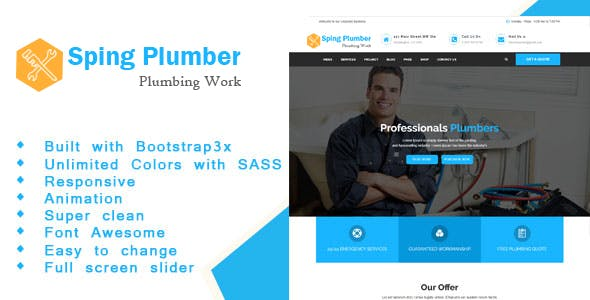 Sping - Construction and Plumber HTML Template