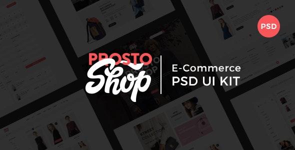 Prosto Shop - E-Commerce PSD Kit - Shopping Retail