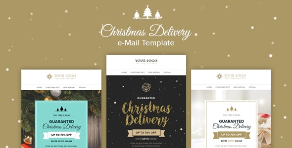 Christmas - Delivery Email Template + Builder Access - Email Templates Marketing