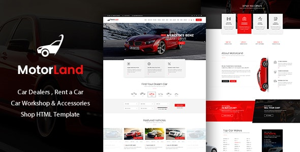 Motorland - Car Dealer Template - Retail Site Templates