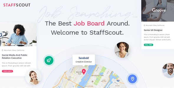 StaffScout - Job Board and Employment Theme - Directory & Listings Corporate