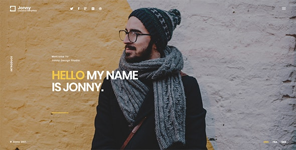Jonny - One Page HTML Template - Personal Site Templates