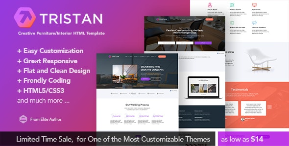 Tristan - Interior Design & Business Responsive Html5 Template - Business Corporate