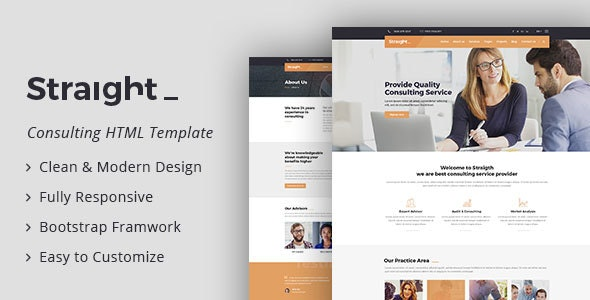 Straight - Business & Consulting HTML Template - Business Corporate