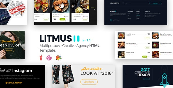 Litmus - Clean & Creative Multipurpose HTML Template - Corporate Site Templates