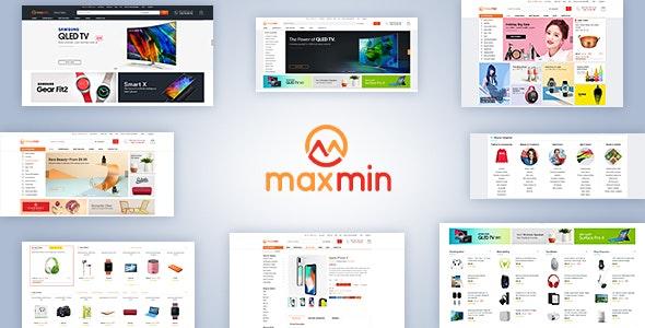 Maxmin - Supermarket eCommerce PSD Template - Shopping Retail
