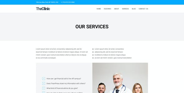 TheClinic - A Clinic PSD emplate