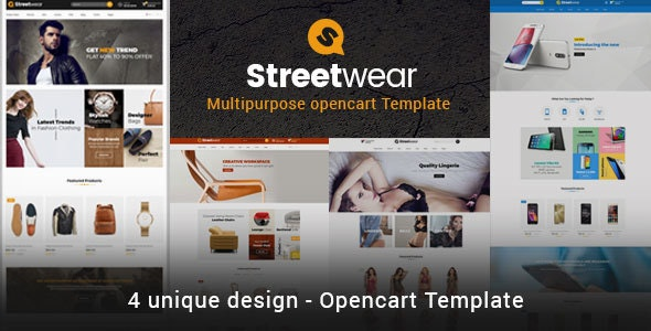 Streetwear - Responsive Multipurpose Opencart Theme - OpenCart eCommerce