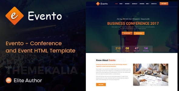 Evento - Conference and Event HTML Template - Events Entertainment