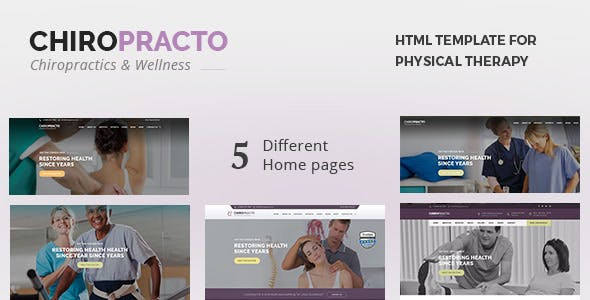 Chiropracto - Physical Therapy HTML Template