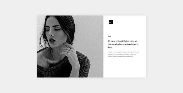 Dereck - Ajax Based Creative Portfolio - Creative Site Templates