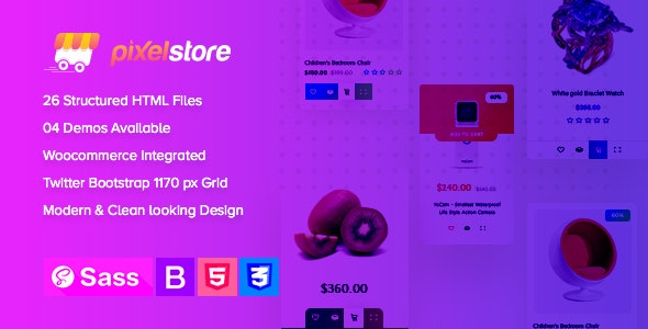 Pixelstore - eCommerce HTML5 Template - Shopping Retail