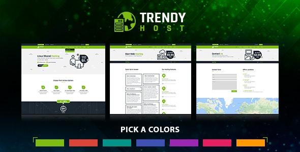 Trendy Host - Responsive Hosting HTML Template - Hosting Technology