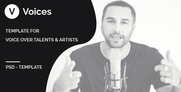 Voices - PSD Template - Film & TV Entertainment