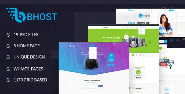 Bhost - Hosting PSD Template - Hosting Technology
