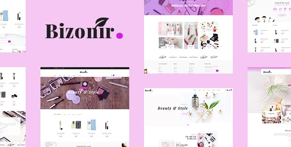 Bizonir - Cosmetic Responsive Shopify Theme - Shopify eCommerce