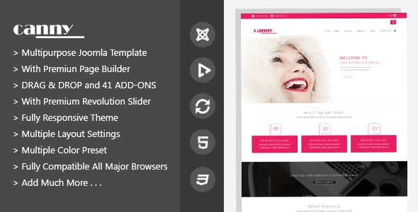Canny | Responsive Multipurpose Joomla Template - Business Corporate