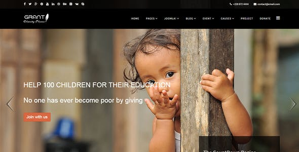 Grant - Charity / Nonprofit / NGO Joomla Template