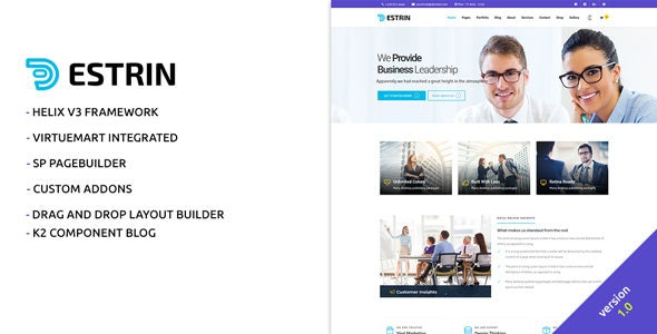 Estrin Multi-Purpose Joomla! Template - Business Corporate