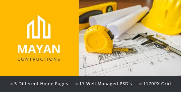 MAYAN Constructions - PSD web template - Business Corporate
