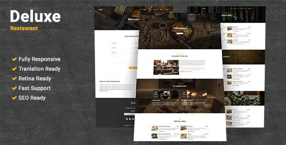 Deluxe Restaurant WordPress Theme - Restaurants & Cafes Entertainment