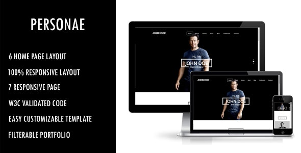 Personae - Personal Portfolio HTML Template - Portfolio Creative