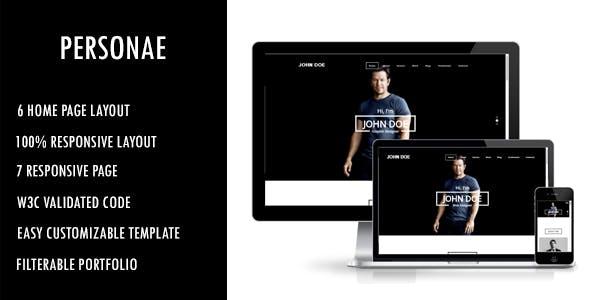 Personae - Personal Portfolio HTML Template