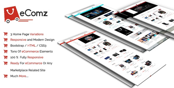 Ecomz-Responsive Ecommerce Template - Retail Site Templates