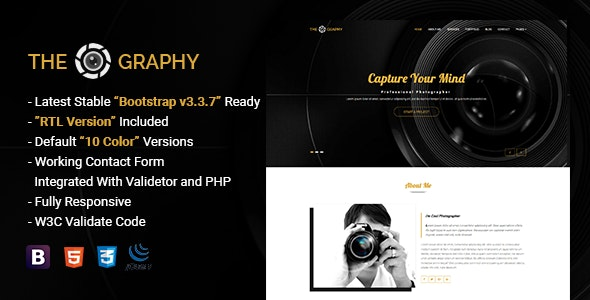 TheGraphy | Responsive Creative Photography HTML5 Template - Photography Creative