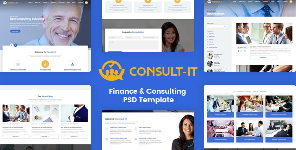 ConsultIt - Consulting & Finance PSD Template - Business Corporate