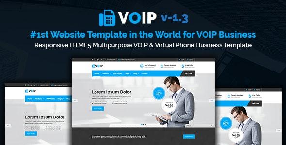 Voipbiz | Responsive VOIP & Virtual Phone Business HTML5 Template - Technology Site Templates