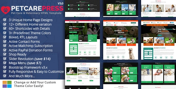 Veterinary Pet Gromming - Miscellaneous Site Templates