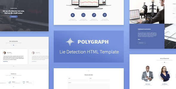 Polygraph - Lie Detection HTML Template - Business Corporate