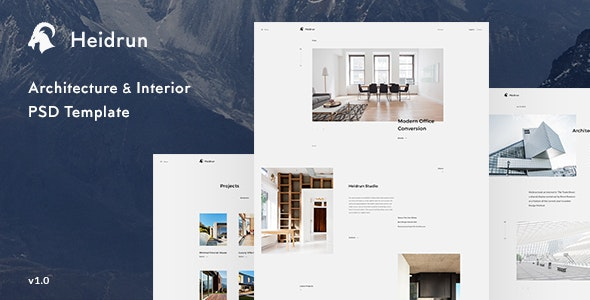 Heidrun - Architecture & Interior PSD Template - Creative Photoshop